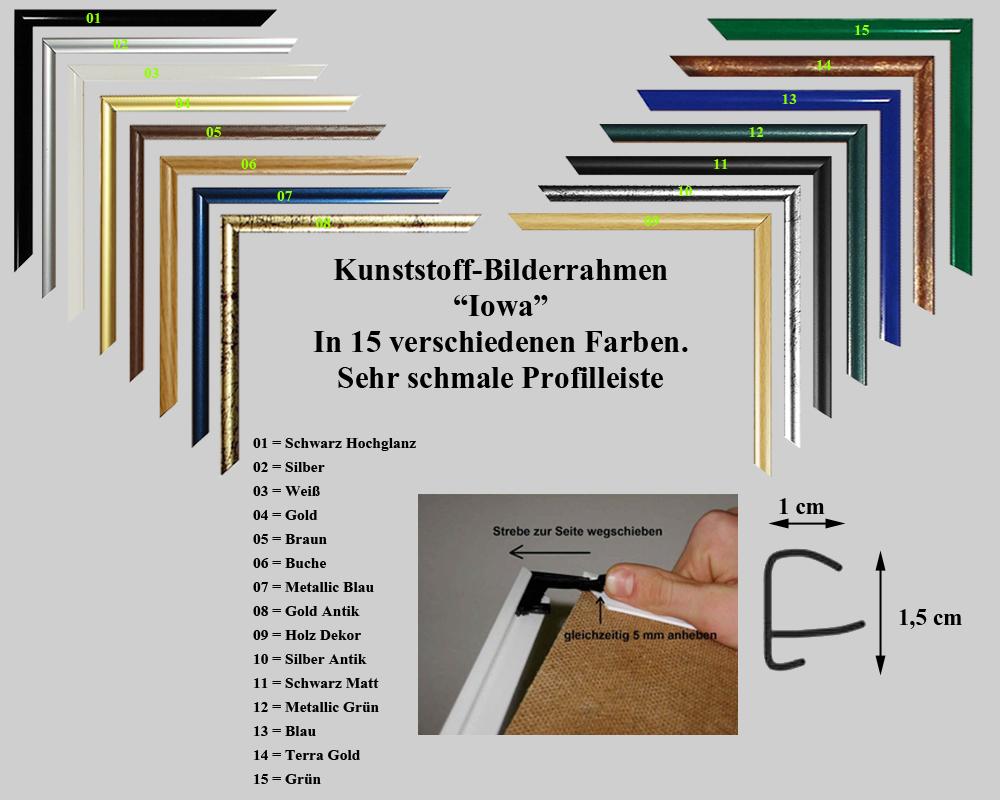 Kunststoff-Bilderrahmen KANSAS 250 Größen Farbe Braun