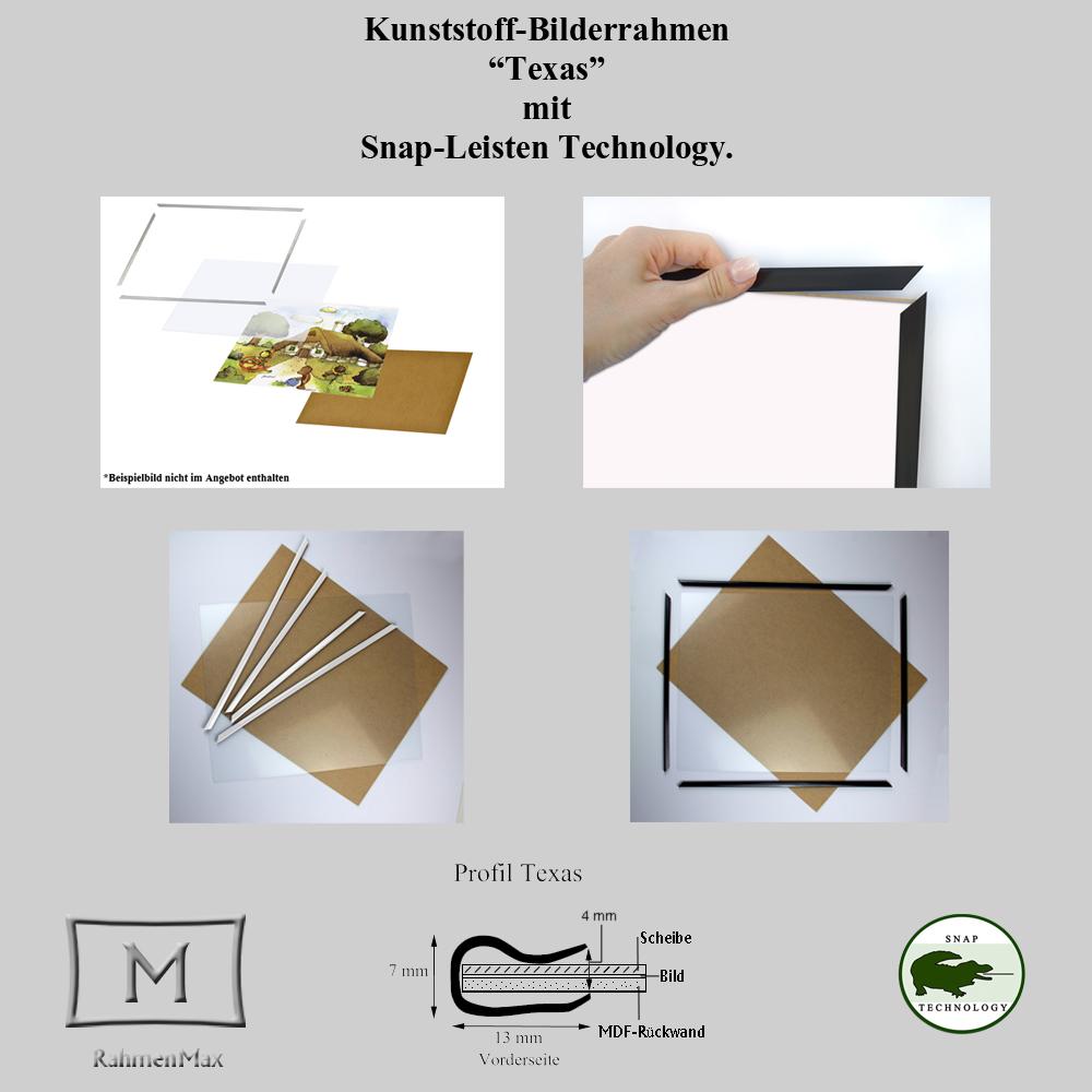 Kunststoff-Bilderrahmen Leisten-Set TEXAS 61 x 91,5 cm mit Paket ...