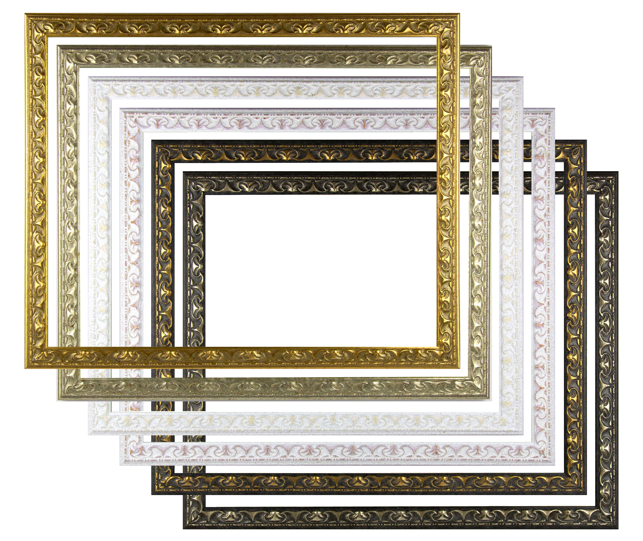 Massivholz Echtholz Bilderrahmen Mandinia 63 x 90 cm. 6 Farben zur Auswahl